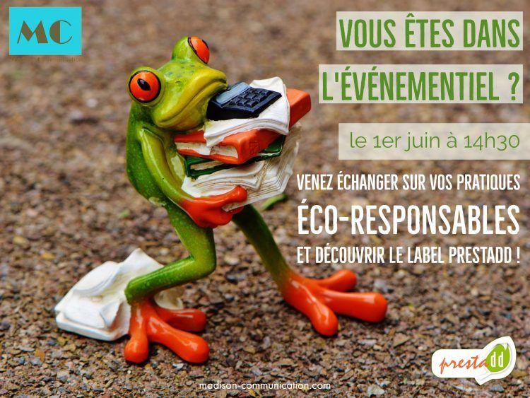 Le 1er juin, venez échanger sur vos pratiques éco-durables !
