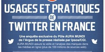 [Infographie] les usages et pratiques de Twitter en France