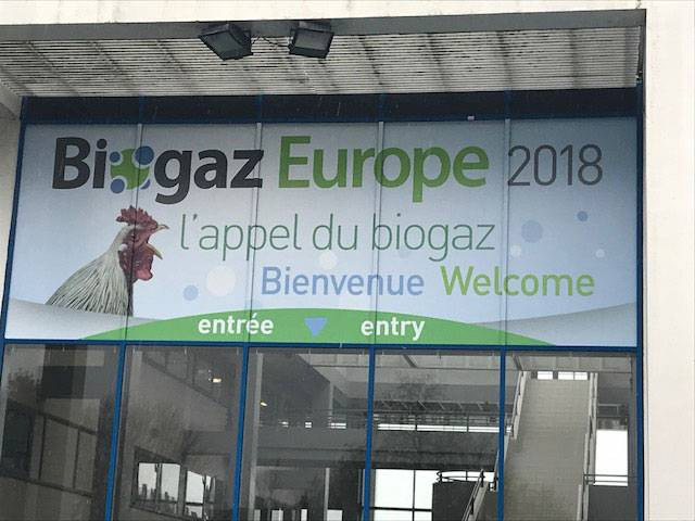 Couverture digitale du salon Biogaz Europe 2018