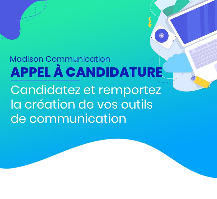 [Appel à candidatures] Candidatez et remportez la création de vos outils de communication !