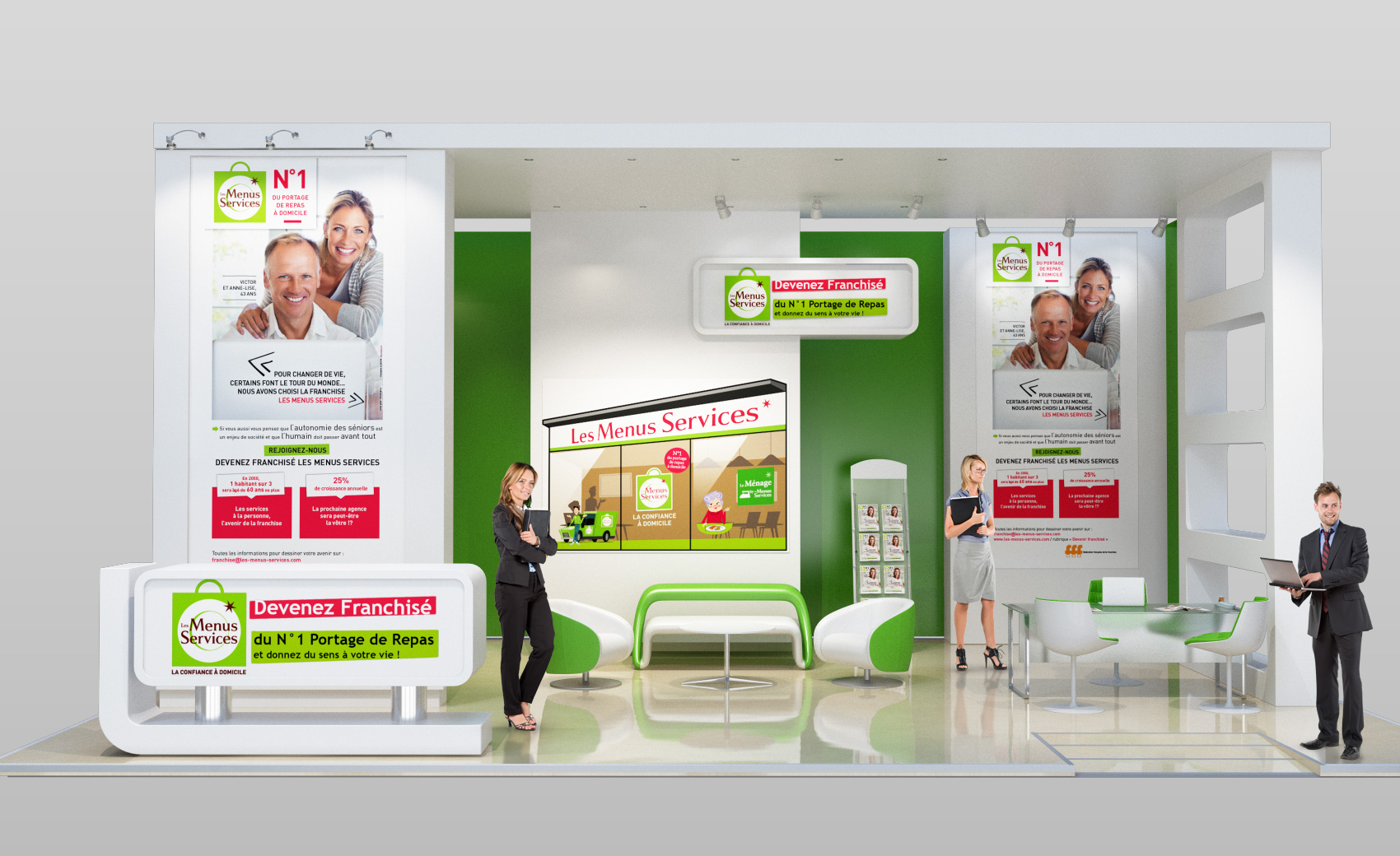 Stand virtuel sur le Salon de la Franchise