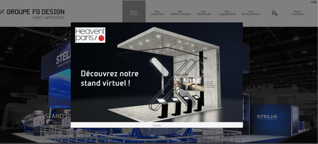 Stand virtuel de la société Groupe FG Design