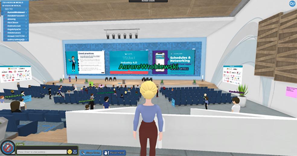 salle de conférence virtuelle du Laval Virtual World