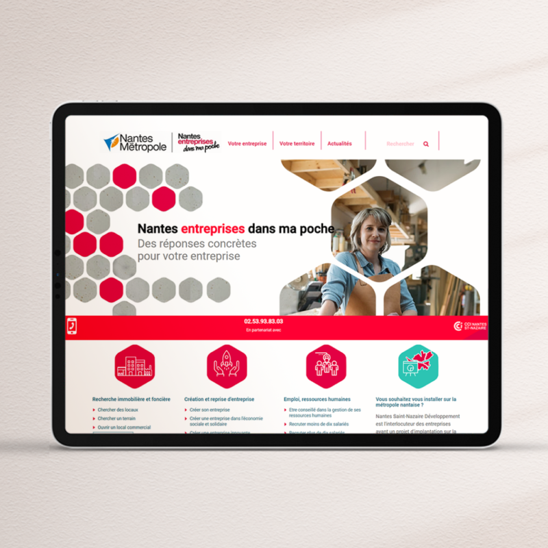 Revisite de la stratégie digitale et éditoriale pour Nantes Entreprises Dans Ma Poche