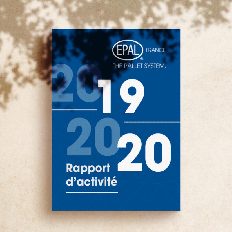 Conception et mise en page Graphique du premier rapport d'activité de la palette pour Epal France
