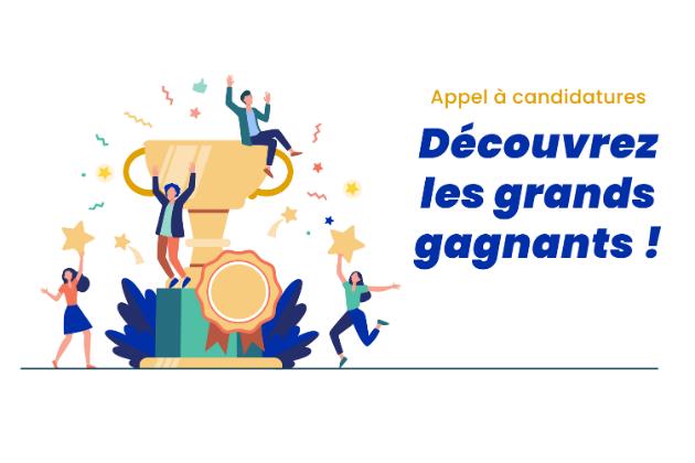 Découvrez les grands gagnants de notre appel à candidatures 2021 !